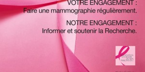 Octobre rose - Affiche ruban