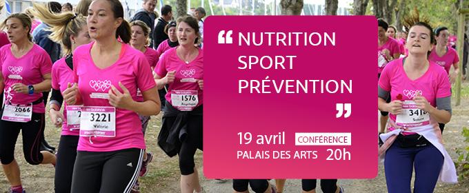 """19 avril – 20h : conférence """"Nutrition, sport, prévention"""""""