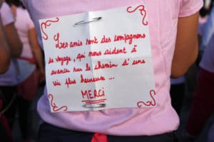 message d'une participante